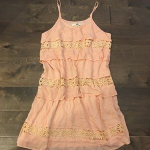 Ya Los Angeles M Peach Lace Dress